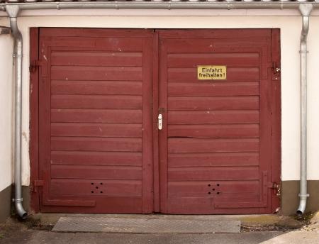 garage: Red Garage Door