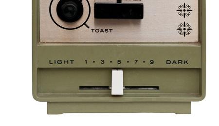 Slider on an old toaster