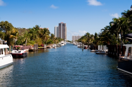 ft lauderdale: Waterfront homes in Ft Lauderdale Stock Photo