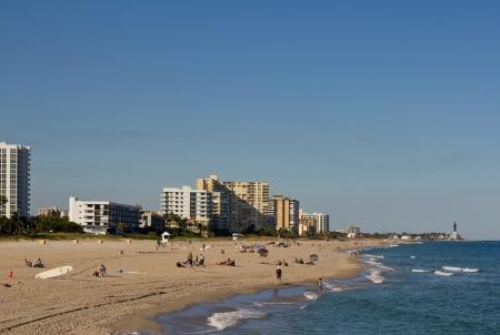 Pompano beach and lighthouse