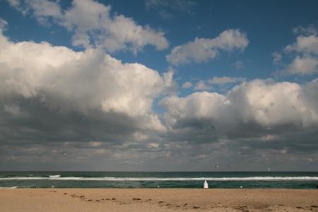 occ: Lonely tourist on Atlantic coast Stock Photo