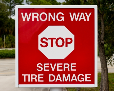 Stop Sign - Tire Damage