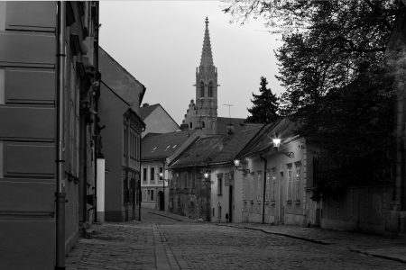 Bratislava, Slovaquie - vieille rue Banque d'images