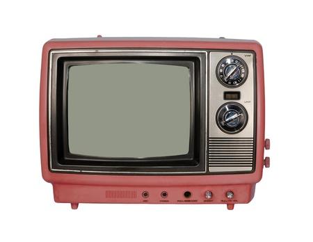 Pink Vintage TV set