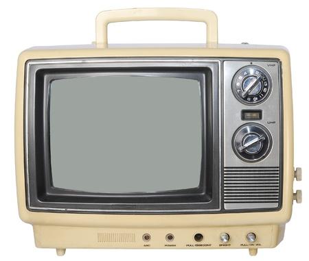 telly: Yellow Vintage TV set