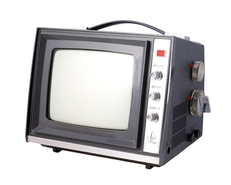 Vintage Tv set in angle view
