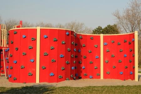 Climbing Wall On Childrens Playground