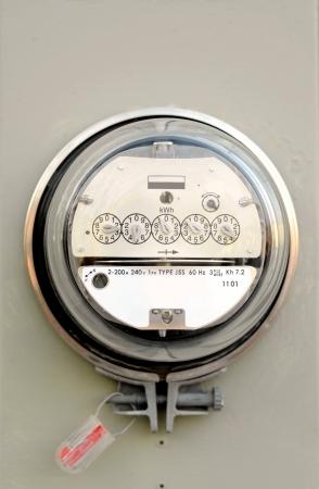 contador electrico: Medidor el�ctrico Foto de archivo