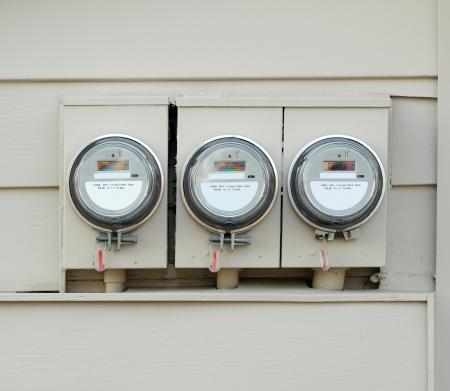 meters: Electric Meters Stock Photo