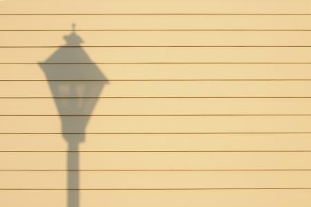 Ombre de lampe sur un mur