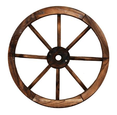 Roue de chariot en bois