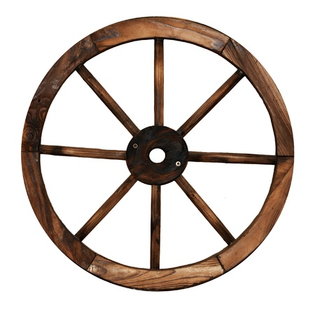 Wood Cart Wheel  Zdjęcie Seryjne