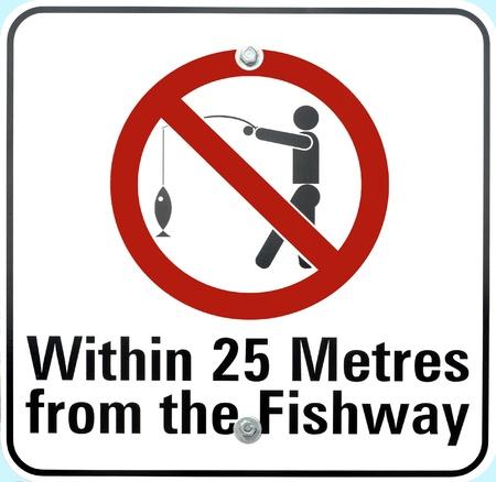 disallowed: No Fishing Sign