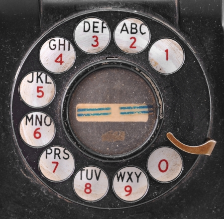 grungy: Grungy Antique Telephone Dial