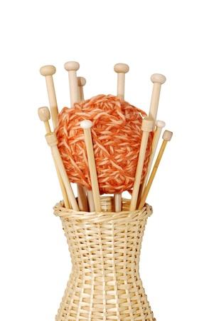 Wooden knitting needles Stok Fotoğraf