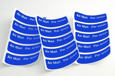 Airmail labels