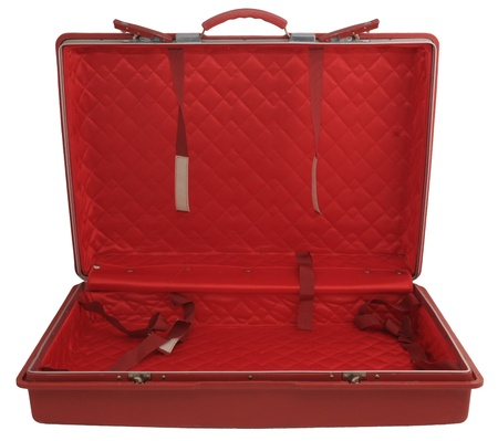 padding: Red suitcase Stock Photo