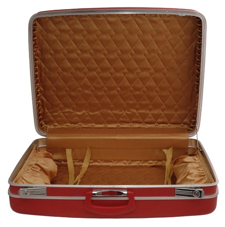 padding: Opened red suitcase Stock Photo