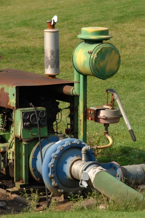 Old agricultural pump Stock Photo