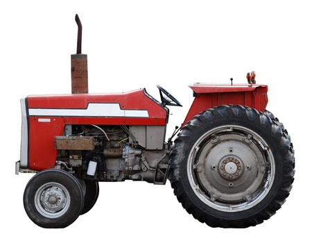 old tractor: Red Tractor