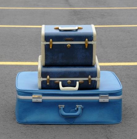 Blue Suitcases