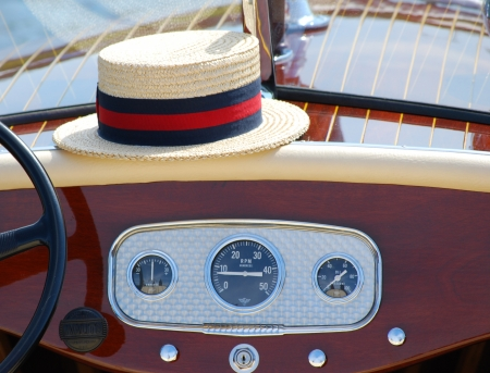 Straw Hat and Boat Instrument Panel