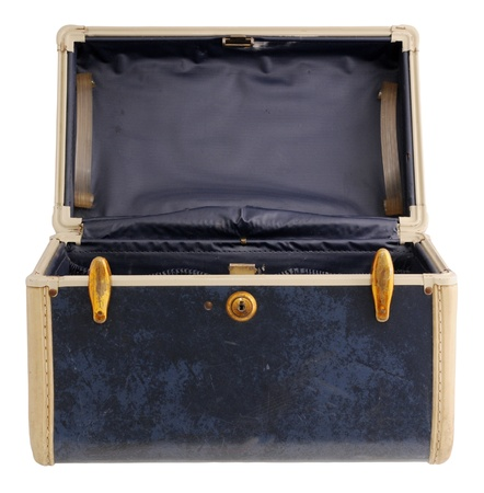padding: Navy blue vintage suitcase