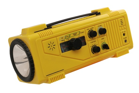 Outdoor Radio With Lamp, Siren, and Weather Band 版權商用圖片