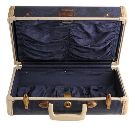 padding: Naby blue vintage suitcase