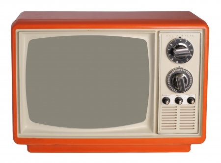 retro tv: Vintage TV set