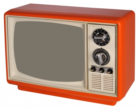 Vintage orange TV set