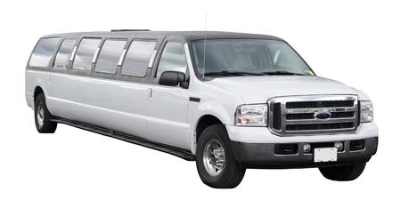 Gray limousine