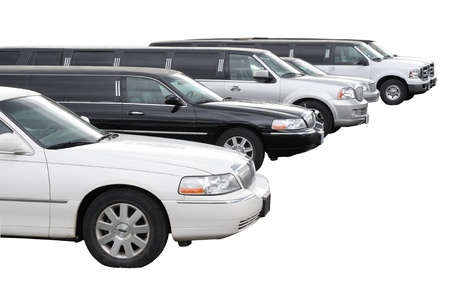 limo: Row of limousines