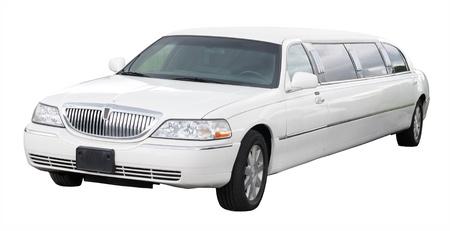 custom car: White limousine
