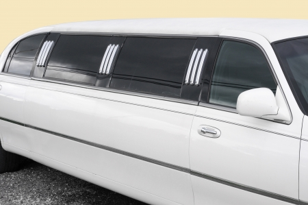 luxuries: White limousine