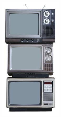 retro tv: Three Vintage TVs