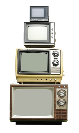 TV family - vertical set 版權商用圖片
