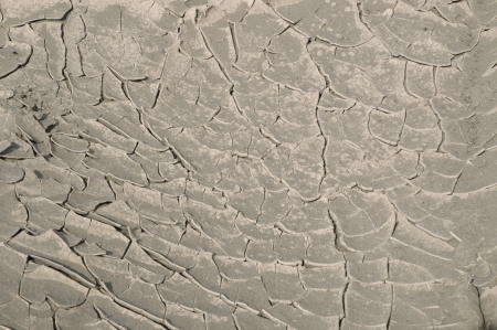 Cracked soil
