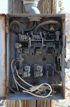 Vintage electrical panel
