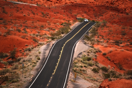 Driving in Valley Of Fire Stock Photo - 16624010