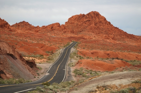 red mountain open space: Road through the Valley Of Fire