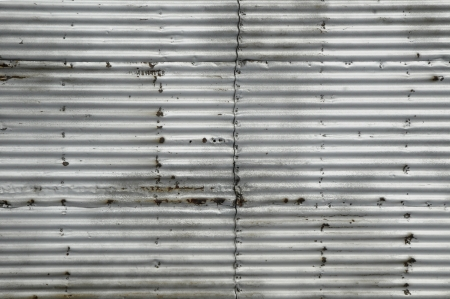 oxidado: Hoja de metal corrugado oxidado
