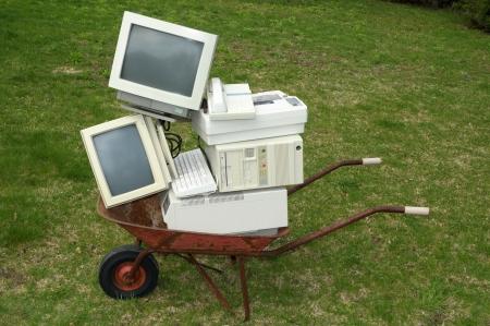 Old computer equipment 版權商用圖片 - 16625248