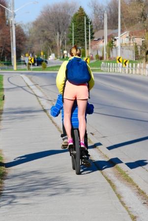 Bike passenger photo