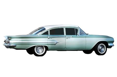 Vintage Car - isol� sur blanc Banque d'images