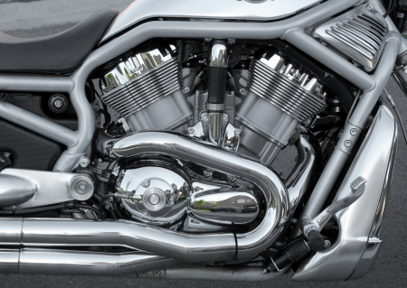 Detail of a motorcycle engine