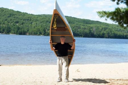 Active senior carrying a canoe Stock Photo - 16626964
