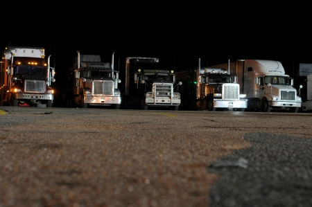 Trucks At Night Stock Photo - 16652067