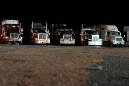 Trucks At Night Stock Photo - 16652067