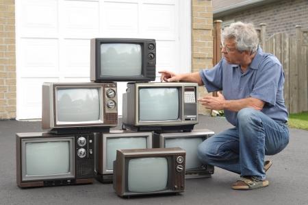 Collecteur d'anciens téléviseurs